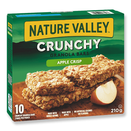 A box of Nature Valley Apple Crisp Crunchy Granola Bars